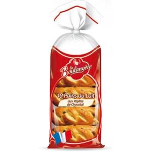 La boulangère pains au lait aux pépites de chocolat x10 350g