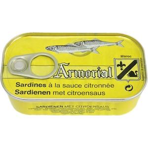 Armorial sardine à la sauce citronnée 120g