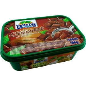 Paradis crème glacée chocolat avec éclats de chocolat 1000ml