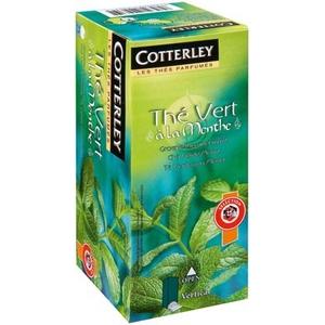 Thé vert à la menthe . cotterley 25 sachets 50g
