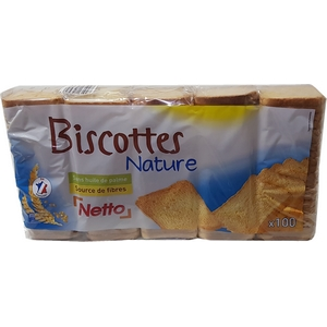 Netto biscottes 100 tranches 830g