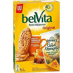 Lu belvita pt déjeuner miel et pépites de chocolat 435g
