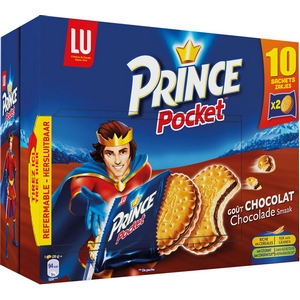 Lu prince pocket chocolat 10x2 400g