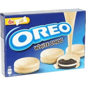 Oréo enrobée au chocolat blanc goût vanille 6 pockets 246g