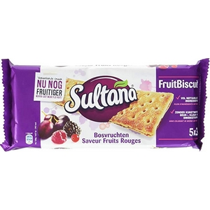 Sultana saveur fruits rouge 5x3 218g