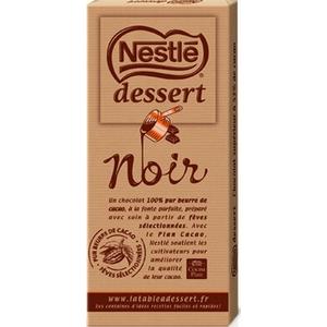 Nestlé tablette de chocolat noir dessert 200g