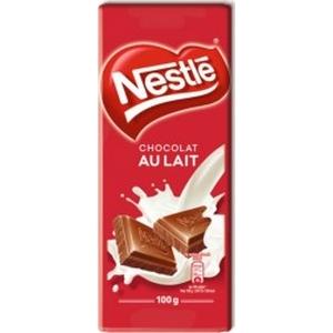 Nestlé tablette de chocolat au lait 100g
