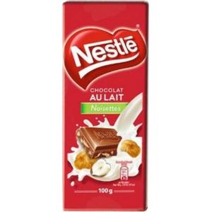 Nestlé tablette de chocolat lait noisettes 100g
