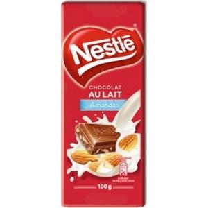 Nestlé tablette de chocolat au lait / amande 100g
