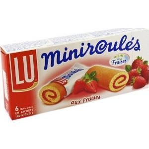 Lu mini roulés aux fraises 150g