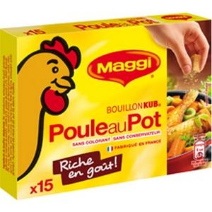 Maggi bouillon kub poule au pot x15
