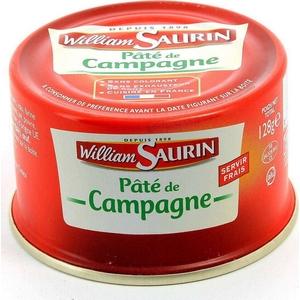W. saurin pâté de campagne 128g