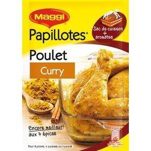 Maggi papillotes de poulet au curry 36g