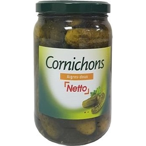 Netto cornichons 37cl