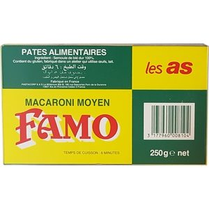 Pâtes famo macaroni 250g