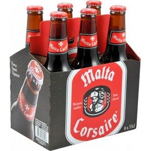 Bière noire Malta Corsaire blle 6x33cl