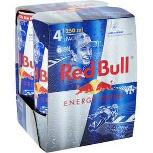 Red bull énergy drink 4x25cl