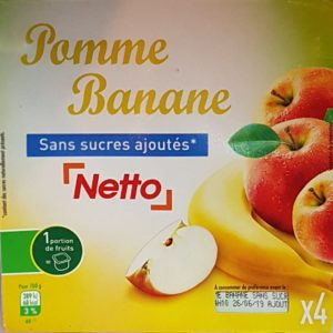 Netto compote pomme/banane 4x100g