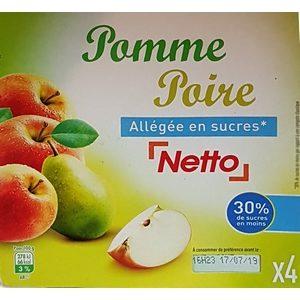 Netto compote pomme poire 4x100g