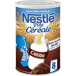 Nestlé p'tite céreale cacao des 6 mois 400g