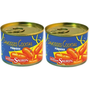 W. saurin saucisses cocktail fumées lot de 2x120g