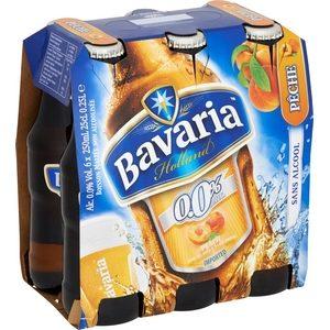 Bière sans alcool bavaria pêche 6x33cl