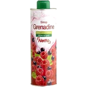Netto sirop grenadine bidon 75cl