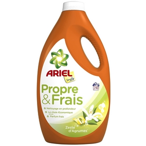 Lessive liquide ariel simply propre et frais zeste d'agrumes 20 doses 1100ml