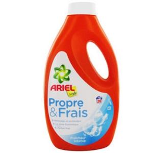 Lessive liquide ariel simply propre et frais fraîcheur intense 20 doses 1100ml