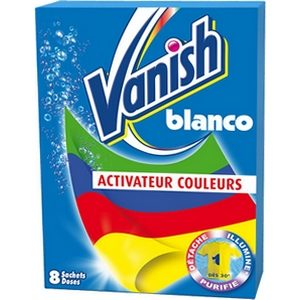 Vanish blanco active couleur 8 sachets