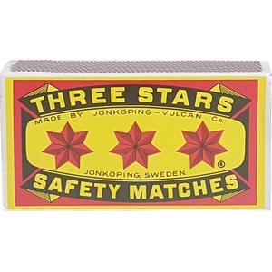 Allumettes 3 étoiles double compartiment