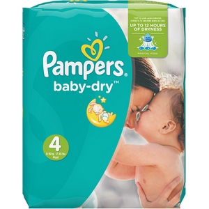 Pampers couches g.m. baby dry n°4 x44 de 8 à 14kg