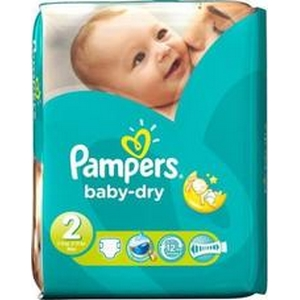 Pampers couches baby-dry n°2 x33 mini 3-6kg