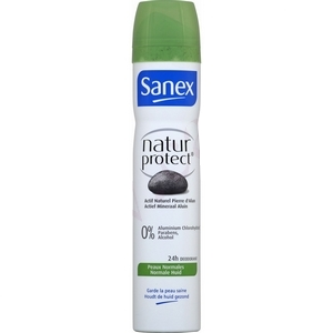 Déodorant Sanex peaux normales 24h 0% d'alcool 200ml