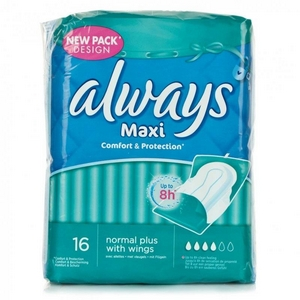 Protection hygiénique Always maxi protection normal x20