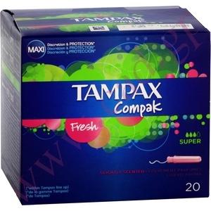 Protection hygiénique tampax compak 22 super