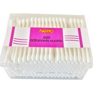Netto coton tige 200 bâtonnets
