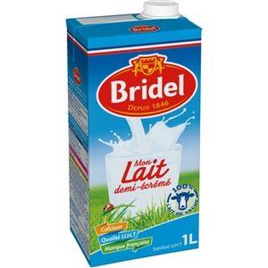 Bridel lait 1/2 écrémé brique 1l