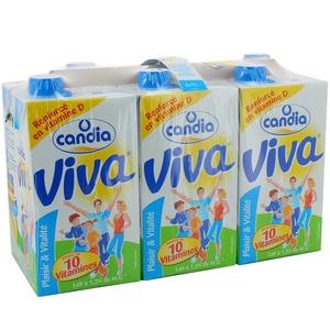 Candia viva 1/2 écrémé brique 6x1l