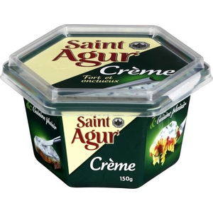 Crème de fromage saint agur au lait de vache 150g