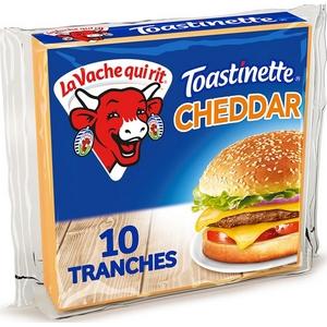 Toastinette cheddar burger 10 tranches la vache qui rit 200g