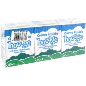 Crème liquide bocage lot 3x20cl