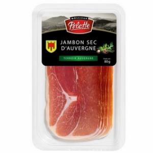 Polette Jambon sec Auvergne 4 Tr. 100g