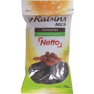 Netto raisins secs 250g