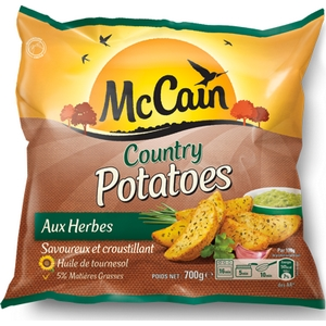 Country potatoes aux herbes mc cain 750g