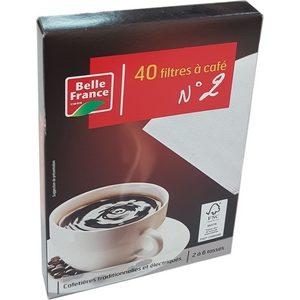 Belle France filtre café n°2 x40