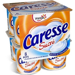 Caresse yaourt nature sucré 8x125g