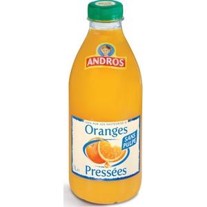 Andros jus d'oranges pressées sans pulpes 1l
