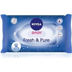 Lingettes bébé nivéa fresh et pure x63