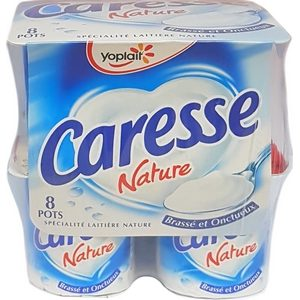 Caresse yaourt nature 8x125g